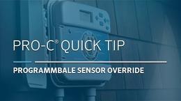 Pro-C Advanced: 01, Programmable Sensor Override