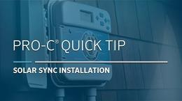 Pro-C Solar Sync: 01, Installation