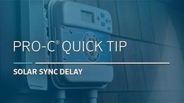 Pro-C Solar Sync: 03, Delay