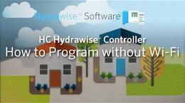 Programação do Controlador HC Hydrawise sem Wi-Fi