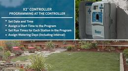 X2 Irrigation Controller, Programming at the Facepack