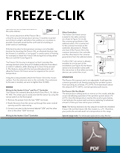 Freeze-Clik Installation Card