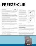 Freeze-Clik Installation Card