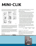 Mini-Clik Installation Card