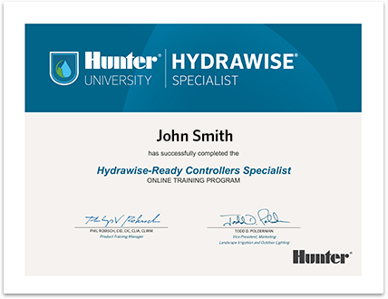 Hunter Specialist - Hydrawise