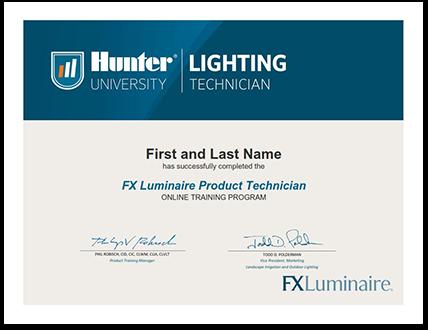 FX Luminaire Product Technician Program