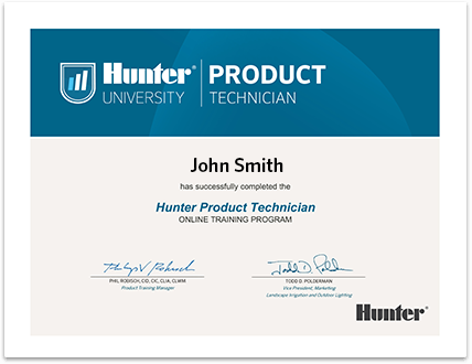 Hunter Product Technician