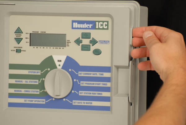 how do i replace the front panel on my hunter icc controller rh hunterindustries com hunter icc controller owner's manual hunter icc controller owner's manual