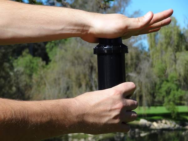 Instrucciones para el ajuste del aspersor pgp hunter for Irrigatori nelson