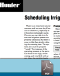 Scheduling Irrigation