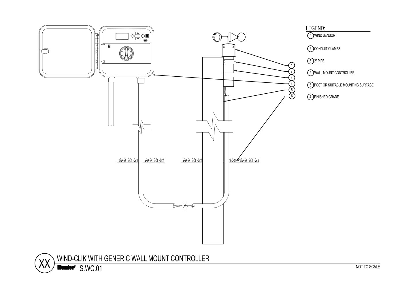 CAD - Wind Clik with Generic Wall Mount Controller