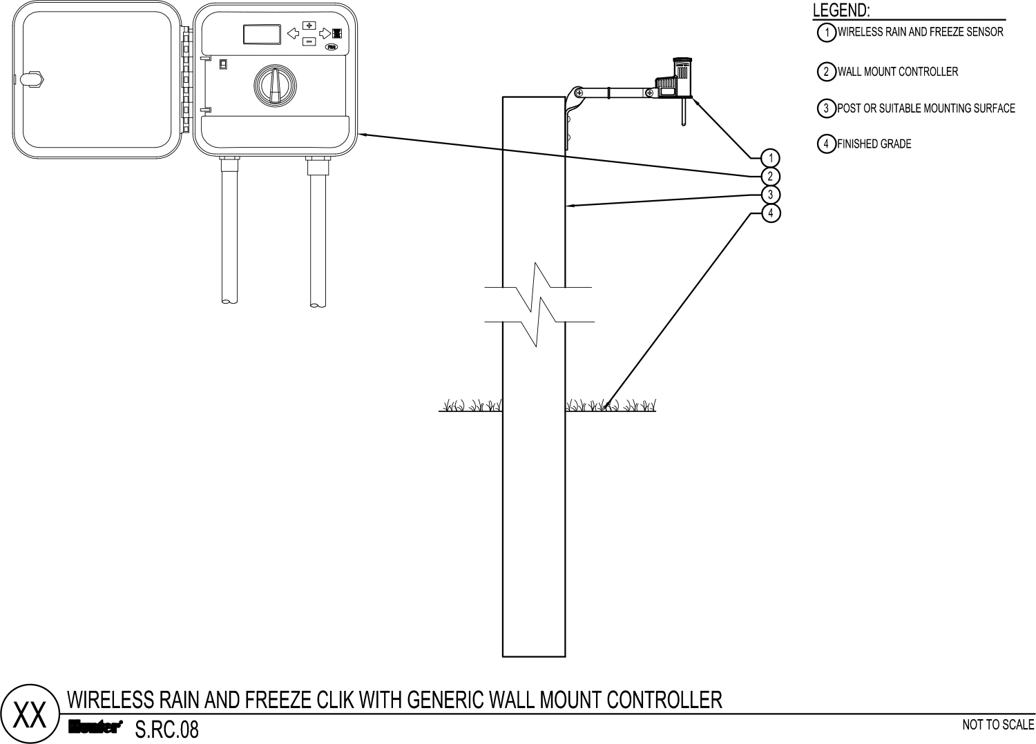 CAD - Wireless Rain Freeze Clik with Generic Wall Mount Controller
