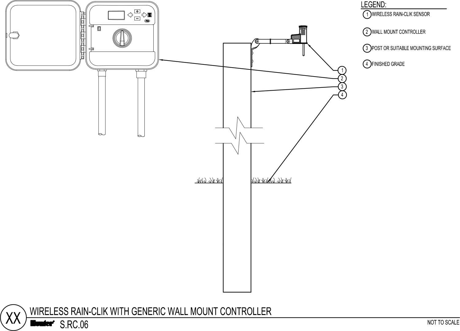 CAD - Wireless Rain-Clik with Generic Wall Mount Controller