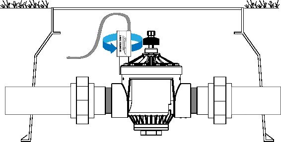 X-Core - Flashing Sprinkler Icon, No Zones Running | Hunter